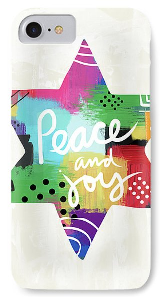 Peace And Joy Star-art By Linda Woods IPhone Case by Linda Woods