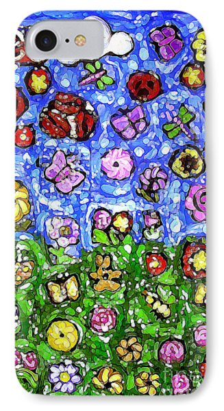 Peaceful Glowing Garden IPhone Case by Genevieve Esson