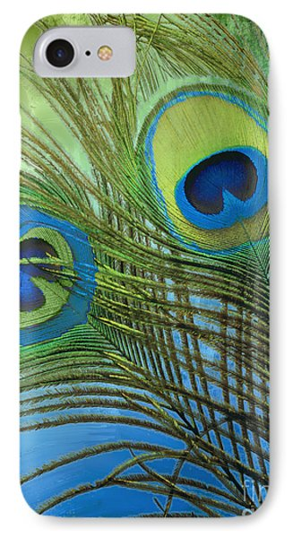 Peacock Candy Blue And Green IPhone Case by Mindy Sommers