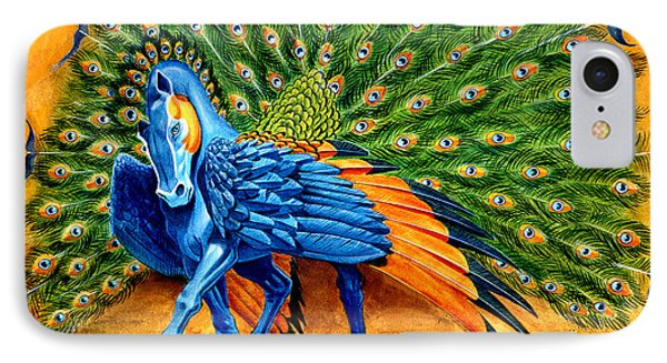 Peacock Pegasus IPhone 7 Case by Melissa A Benson