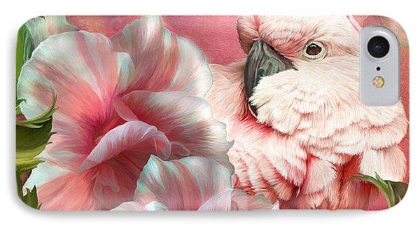 Peek A Boo Cockatoo IPhone 7 Case by Carol Cavalaris