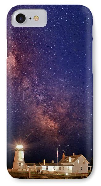 Pemaquid Point Lighthouse And The Milky Way IPhone Case by Rick Berk
