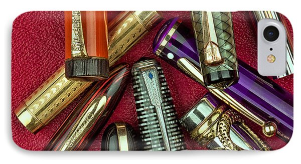 Pen Caps Still Life IPhone Case by Tom Mc Nemar