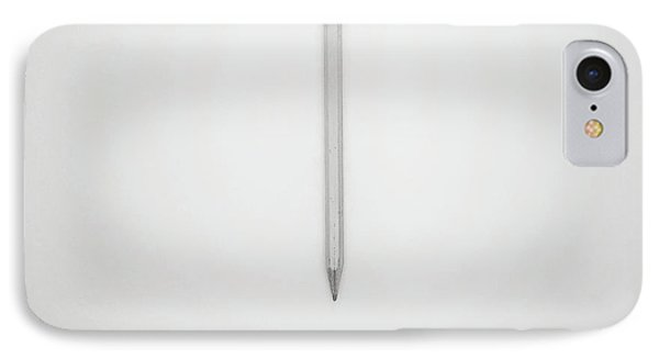 Pencil On A Blank Page IPhone Case by Scott Norris