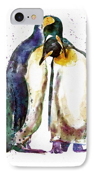 Penguin Couple IPhone Case by Marian Voicu