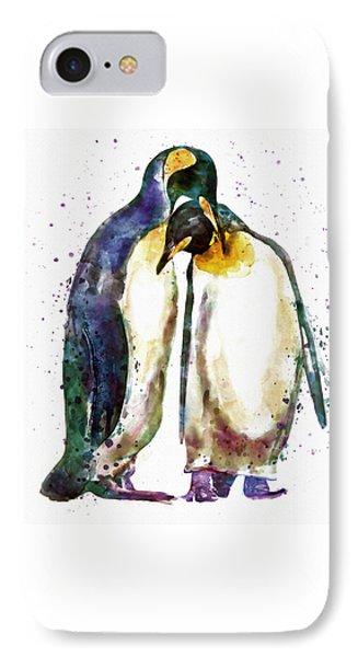 Penguin Couple IPhone 7 Case by Marian Voicu