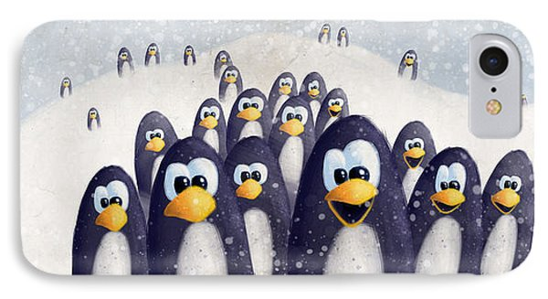 Penguin Winter IPhone Case by David Breeding