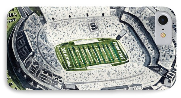Penn State Beaver Stadium Whiteout Game University Psu Nittany Lions Joe Paterno IPhone Case by Laura Row