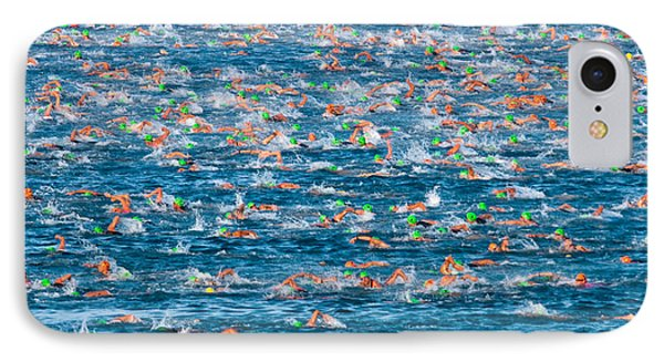 People Competing In The Ford Ironman IPhone Case by Panoramic Images