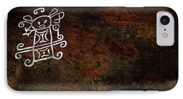 Petroglyph 8 Phone Case by Bibi Romer