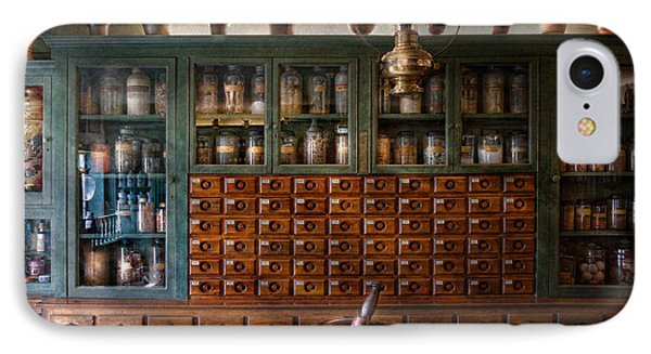 Pharmacy - Right Behind The Counter Phone Case by Mike Savad