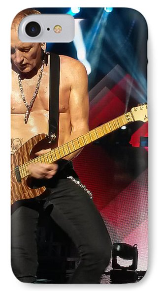 Phil Collen Of Def Leppard 2 IPhone Case by David Patterson