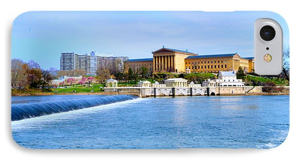 Philadelphia Museum Of Art And The Philadelphia Waterworks Phone Case by Bill Cannon