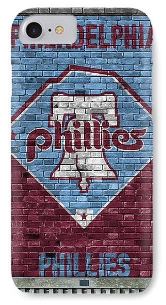 Philadelphia Phillies Brick Wall IPhone Case by Joe Hamilton