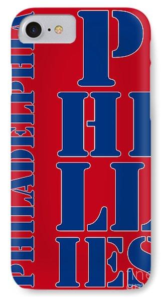 Philadelphia Phillies Typography IPhone Case by Pablo Franchi