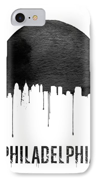 Philadelphia Skyline White IPhone Case by Naxart Studio