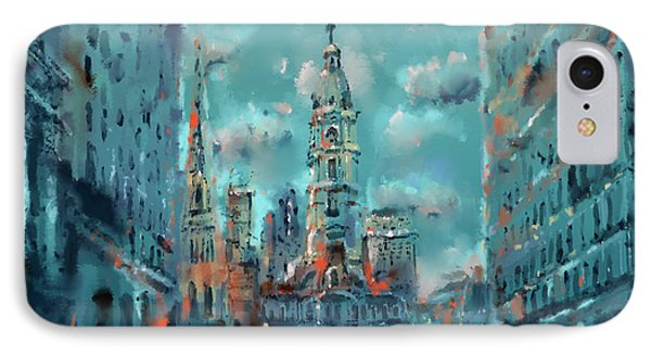 Philadelphia Street IPhone Case by Bekim Art