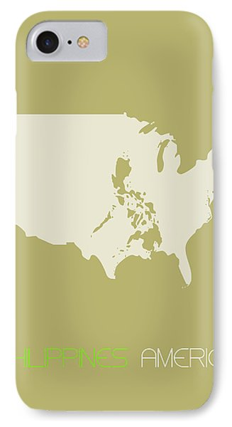 Philippines America Poster IPhone Case by Naxart Studio