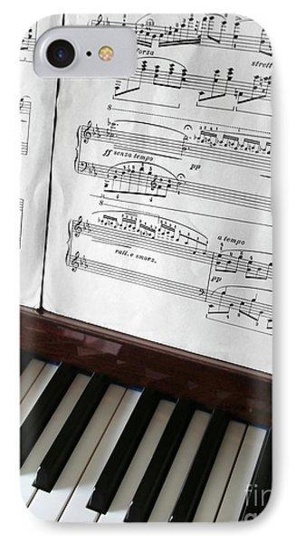 Piano Keys IPhone Case by Carlos Caetano