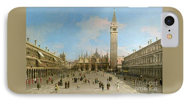 Piazza San Marco Looking Towards The Basilica Di San Marco  IPhone Case by Canaletto