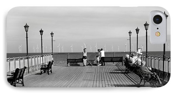 Pier End View At Skegness Phone Case by Rod Johnson