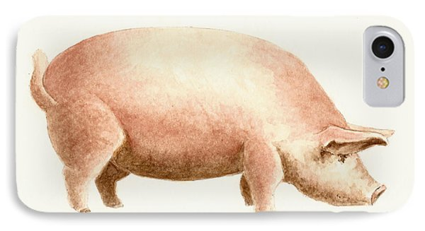 Pig IPhone 7 Case by Michael Vigliotti