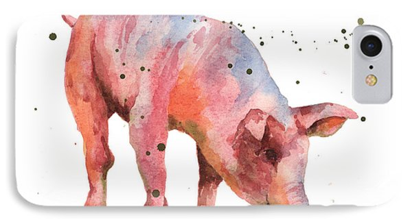 Pig Painting IPhone 7 Case by Alison Fennell