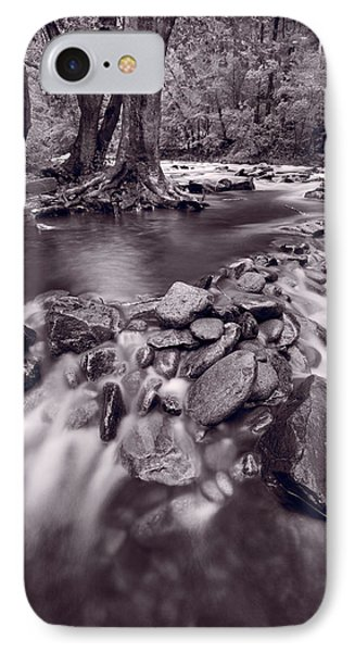 Pigeon Forge River Great Smoky Mountains Bw Phone Case by Steve Gadomski