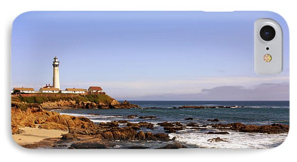 Pigeon Point Lighthouse Ca IPhone Case by Christine Till