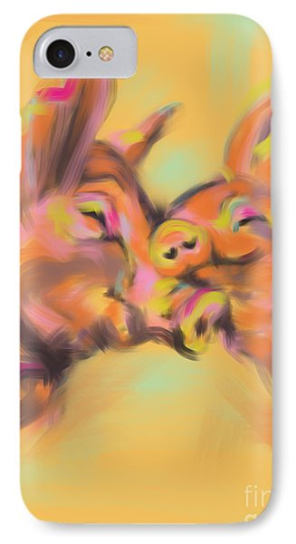 Piggy Love IPhone 7 Case by Go Van Kampen