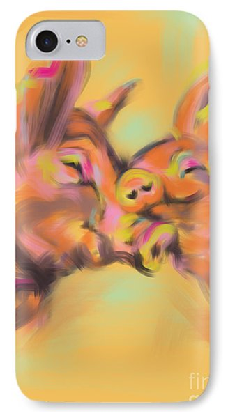 Piggy Love IPhone Case by Go Van Kampen