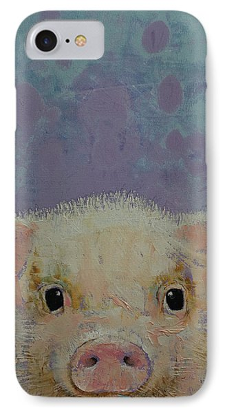 Piglet IPhone Case by Michael Creese