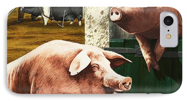 Pigs IPhone Case by Janet Blakeley