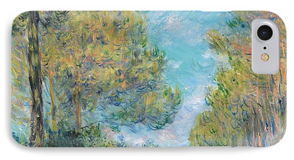 Pine Tree Path At Varengeville IPhone Case by Claude Monet