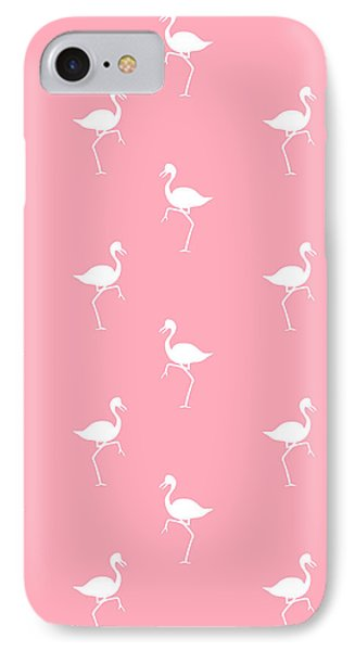 Pink Flamingos Pattern IPhone Case by Christina Rollo