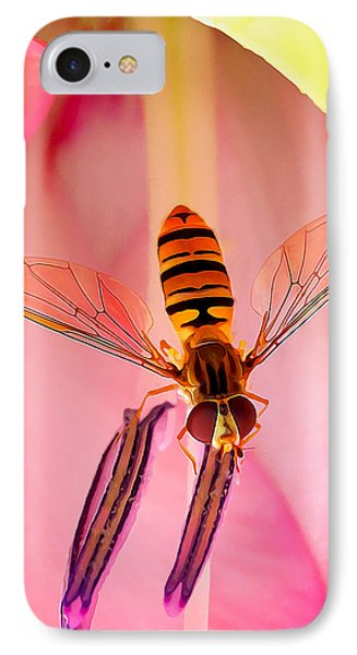 Pink Flower Fly IPhone Case by Bill Caldwell -        ABeautifulSky Photography