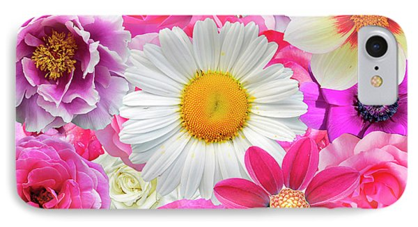 Pink Flowers  IPhone 7 Case by Gloria Sanchez