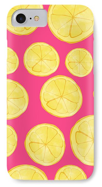 Pink Lemonade IPhone 7 Case by Allyson Johnson