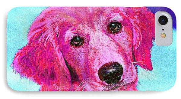 Pink Retriever IPhone Case by Jane Schnetlage