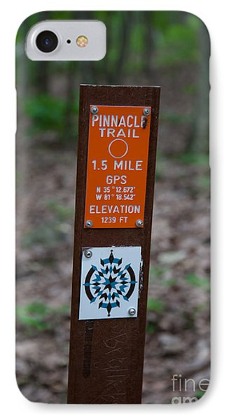 Pinnacle Trail Marker IPhone Case by Andy Miller