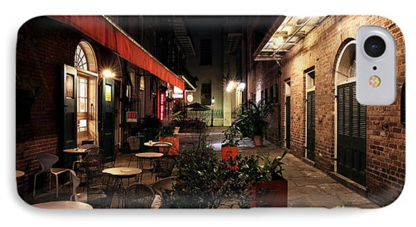 Pirates Alley At Night Phone Case by John Rizzuto