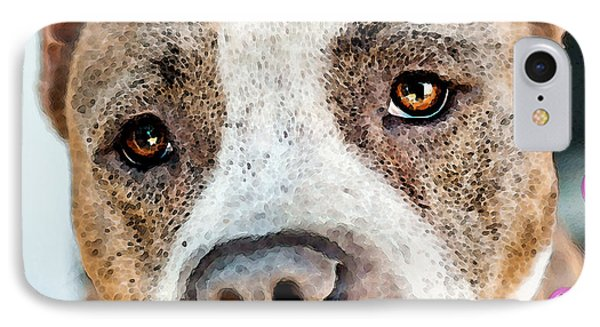 Pit Bull Dog - Pure Love Phone Case by Sharon Cummings