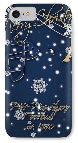 Pitt Panthers Christmas Cards IPhone 7 Case by Joe Hamilton