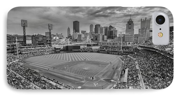 Pittsburgh Pirates Pnc Park Bw X1 IPhone Case by David Haskett