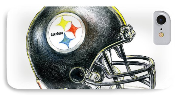 Pittsburgh Steelers Helmet IPhone Case by James Sayer