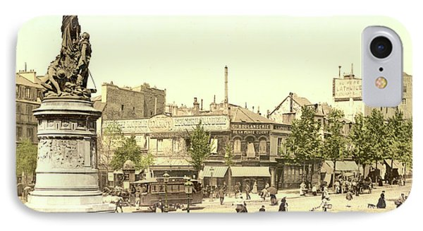Place Clichy In Paris IPhone Case by French School