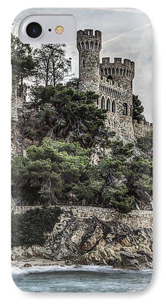 Plaja Castle, Lloret De Mar IPhone 7 Case by Marc Garrido