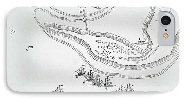 Plan Of The Attack On Sullivan's Island, 1776 IPhone Case by American School