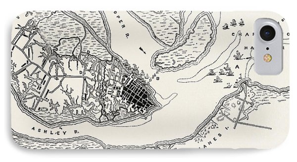 Plan Of The Siege Of Charleston IPhone Case by American School