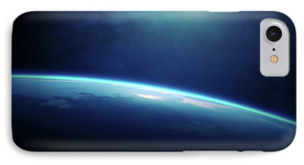 Planet Earth Sunrise From Space IPhone Case by Johan Swanepoel